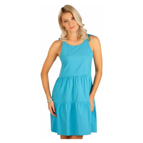 LITEX Šaty dámské na ramínka 5B102504 tmavě tyrkysová