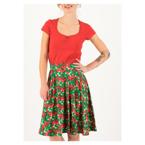 Kolová letní sukně z bio bavlny Blutsgeschwister Cherry caprese