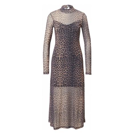 AllSaints Šaty 'Hanna' světle hnědá / tmavě šedá
