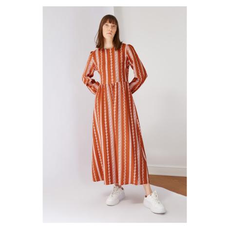 Trendyol Tile Crew Neck Patterned Dress