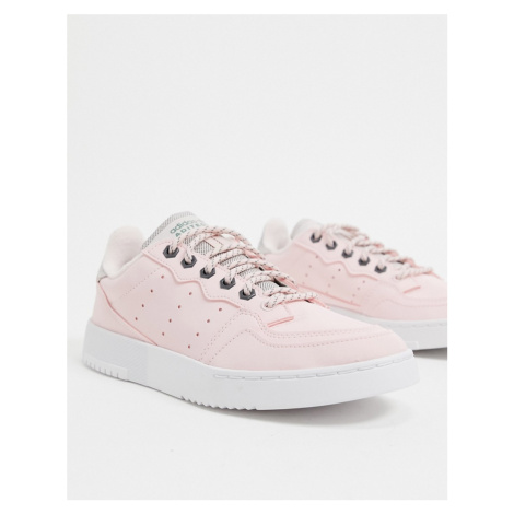 Adidas Originals Supercourt trainers in halo pink & trace green