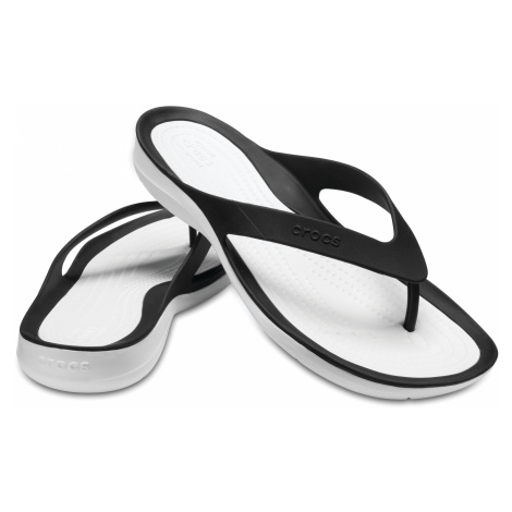 Crocs SwiftWater Flip - žabky Black/White