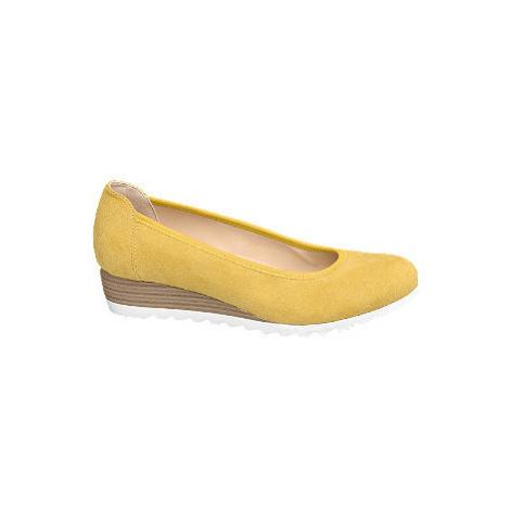 Žluté lodičky na klínku Graceland