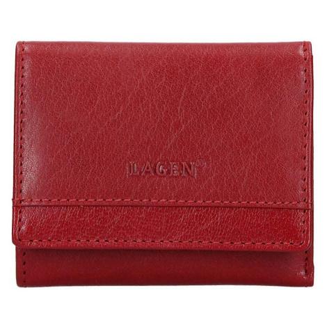 Lagen Dámská kožená peněženka BLC-160231 Red/Red