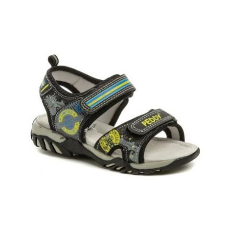 Peddy PO-512-36-02 černé sandálky Černá