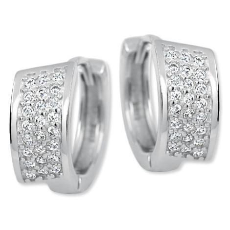 Brilio Silver Luxusní stříbrné náušnice 436 158 00025 04