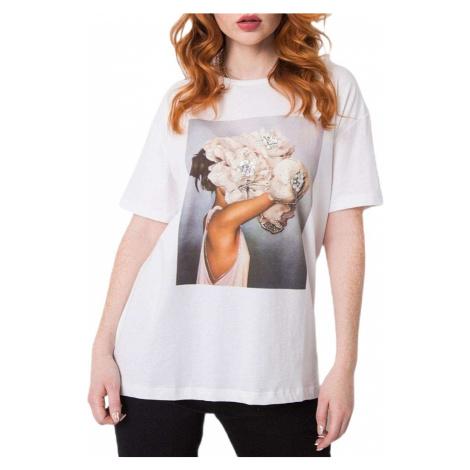 Bílé dámské tričko s potiskem BASIC