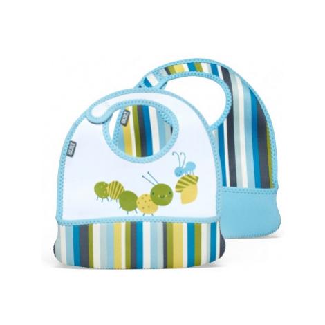 Built Toddler Bib Baby Blue Stripe
