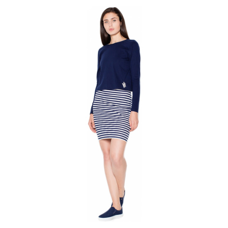 Venaton Woman's Dress VT065 Navy Blue