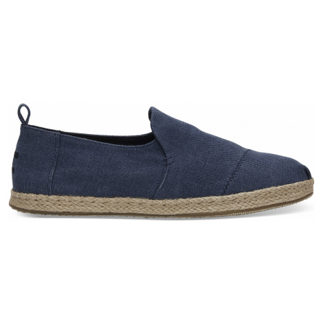 NAVY WASHED CANVAS MN DALR ESP Toms