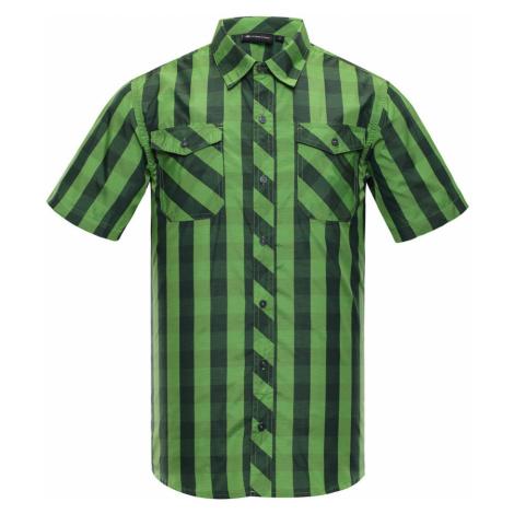 ALPINE PRO LURIN Pánská košile MSHJ022528 zelená