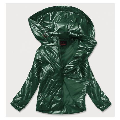 Lesklá zelená dámská bunda (2021-02)