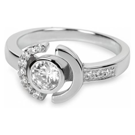 Silver Cat Stříbrný prsten s krystaly SC079