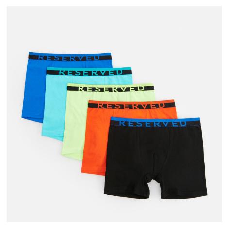 Reserved - Sada 5 kusů boxerek různých barev s vysokým podílem organické bavlny - Modrá