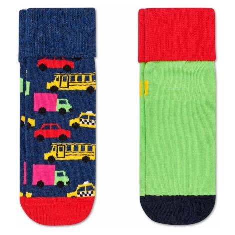 2-Pack Cars Anti-Slip Socks Happy Socks
