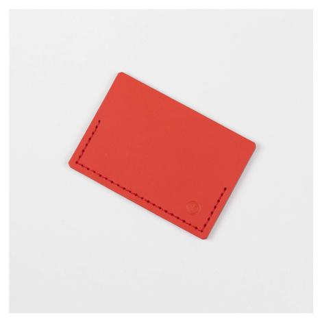 Kožené pouzdro na kreditní karty – červené VACAVALIENTE