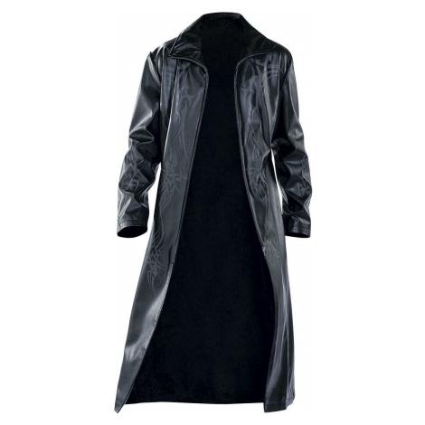 Kabát Tribal Kabát imitace kuže černá