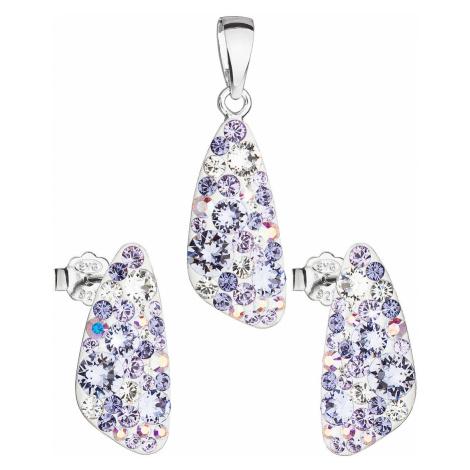 Sada šperků s krystaly Swarovski náušnice a přívěsek fialový 39167.3 violet Victum