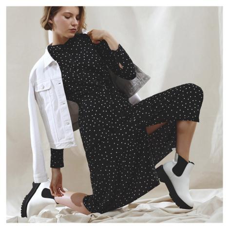 Cropp - Vzorované šaty - Černý