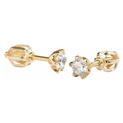 Brilio Zlaté náušnice s krystaly 001