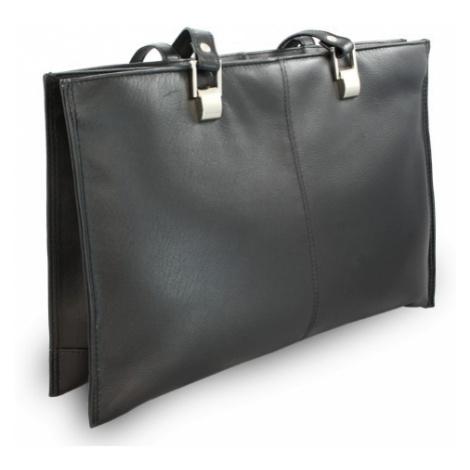 Černá kožená třízipová kabelka Aubree Arwel