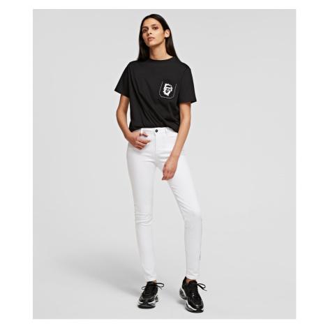 Kalhoty Karl Lagerfeld Skinny White Denim Pants - Bílá