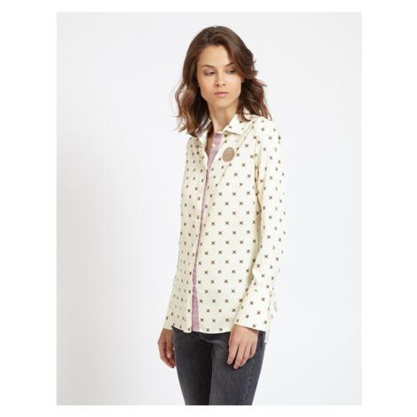 Košile La Martina Woman Shirt L/S Twill Viscose - Bílá