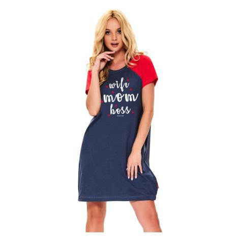 Mateřská noční košile Love mom tmavě modrá