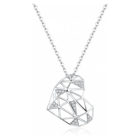 Linda's Jewelry Stříbrný náhrdelník Crazy Love Ag 925/1000 INH074