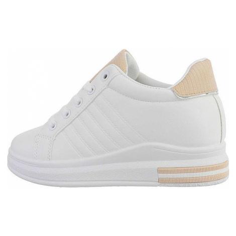 Dámské vysoké tenisky - bílá béžová