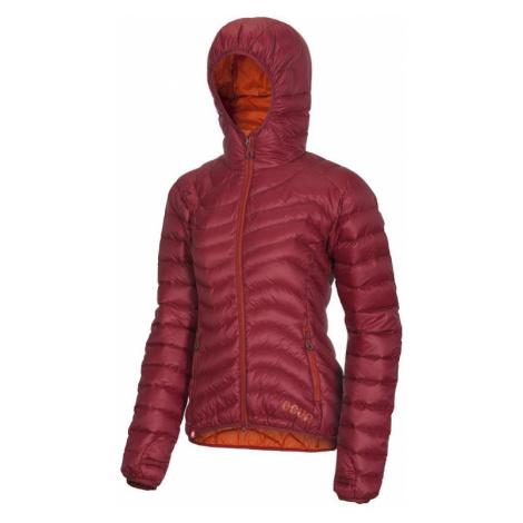 Dámská péřová bunda Ocún Tsunami Women garnet red/rooibos tea