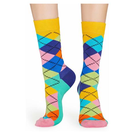 Barevné vzorované ponožky Argyle – 41 - 46 Happy Socks