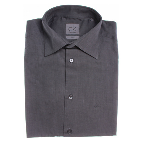 Calvin Klein pánská šedá košile