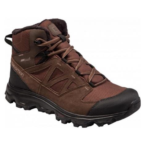 Salomon GRIMSEY TS CSWP hnědá - Pánská zimní obuv