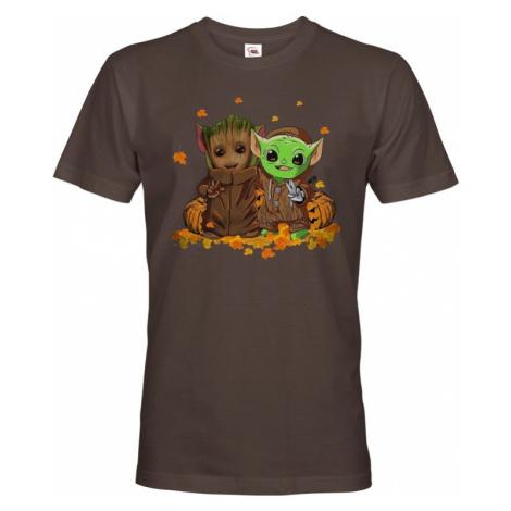 Pánské tričko Mistr Yoda a Groot - ideální pro každého fanouška BezvaTriko