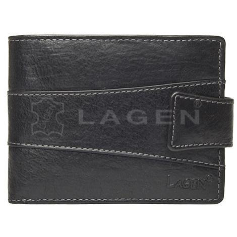 Lagen Pánská peněženka kožená V-98/T Černá
