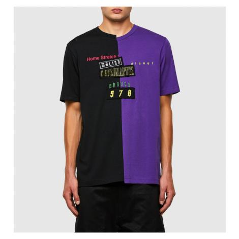 Tričko Diesel T-Jubble-N1 T-Shirt - Modrá