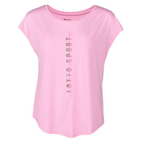 Lotto DINAMICO W III TEE PRT2 VI růžová - Dámské tričko