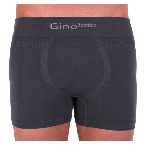 Pánské boxerky Gino bambusové bezešvé šedé (54004)