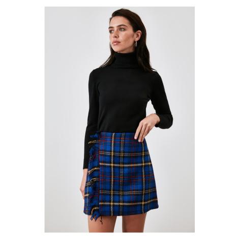 Trendyol Indigo Checkered Skirt
