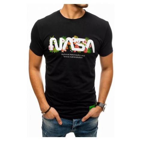 Dstreet Originální černé tričko s potiskem NASA
