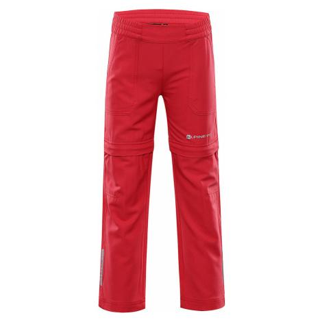 ALPINE PRO PANTALEO 4 Dětské softshellové kalhoty KPAR131421 teaberry