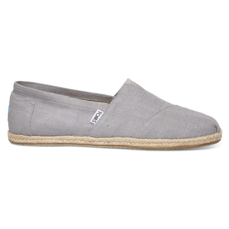 CLASSIC-Grey Linen Rope Sole MEN Toms