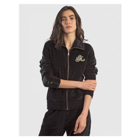 Mikina La Martina Woman Fleece Full Zip Velour - Černá