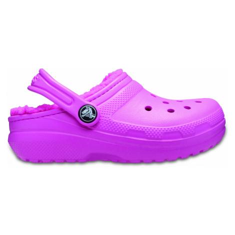 Crocs Classic Lined Clog K Electric Pink J3