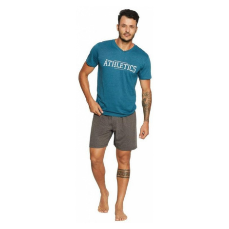 Pánské pyžamo Henderson 37847 | tyrkysová