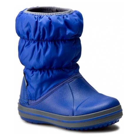 Sněhule CROCS - Winter Puff Boot Kids 14613 Cerulean Blue/Light Grey