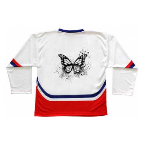Hokejový dres ČR Motýl grunge