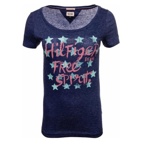 Dámské tmavě modré tričko s potiskem Hilfiger Denim Tommy Hilfiger