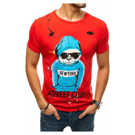 Red RX4364 men´s T-shirt with print DStreet
